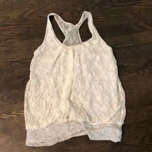 Express- lace racer back